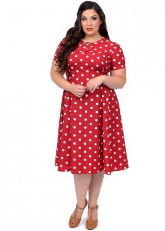 15502ab1535 Платье с принтом «горошек» – необычайно женственный вариант. В зависимости  от материала