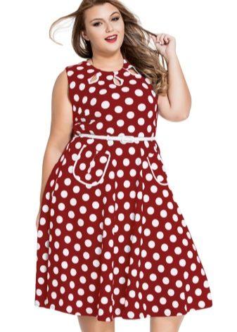 a4b1b4a2d16 Остальным полным модницам лучше остановить выбор на красном платье в черный  горошек