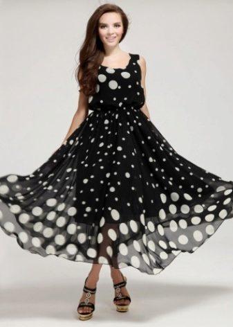 Платья из ткани в горошку