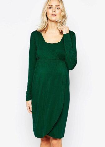 9151229c5aea6c Данная модель отлично сидит на беременной женщине. В таком платье акцент  делается на растущий живот и подчеркивается грудь.