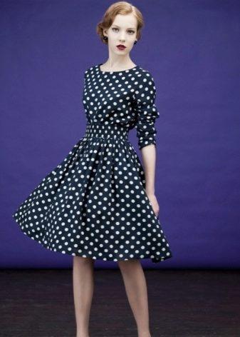 Идеи платья в горошек