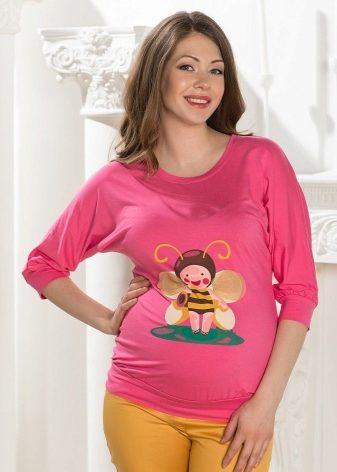 Кофты для беременных (32 фото): прикольные, с надписями