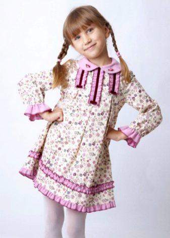 Простое платье для девочки (62 фото): повседневные, в садик, длинный рукав