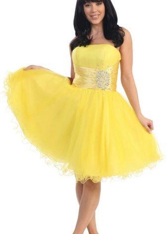 Смоки айс с желтым платьем