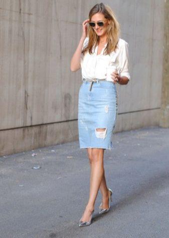 модные юбки выше колена