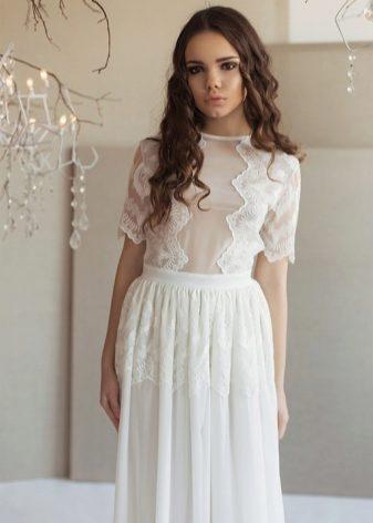 Белые коктейльные платья на свадьбу