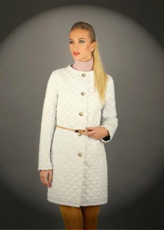 Женское белое пальто (70 фото): короткое, длинное, из гобелена, с чем одеть