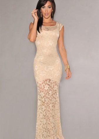 c59993c19a6 Великолепные платья в бежевых тонах с блестками — шикарный вариант