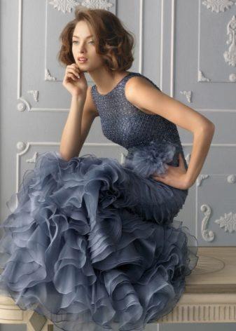 Голубое платье для женщины