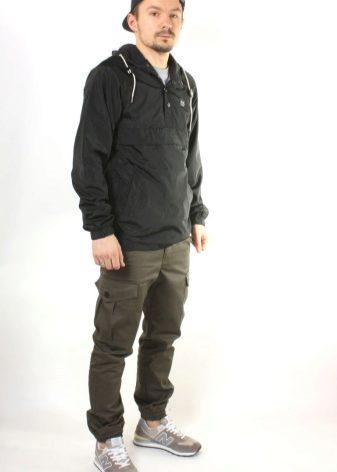 Мужские штаны с резинкой внизу (64 фото): с манжетами, зауженные, милитари, карго, хаки