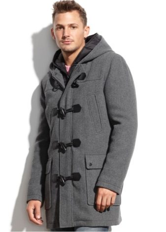 пальто мужское с капюшоном фото