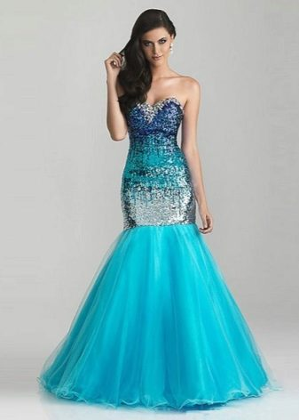 Платье русалка с чем носить