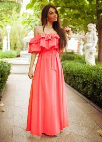 Платье волан с чем носить фото