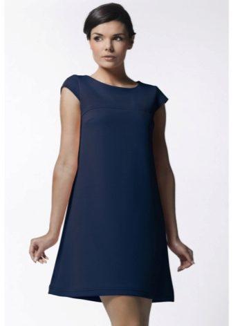 Платье трапеция летнее с кружевным воротником фото