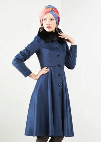 Пальто для девочек с пышной юбкой