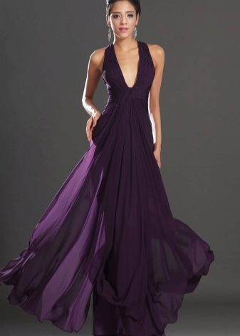 Темно фиолетовые платья