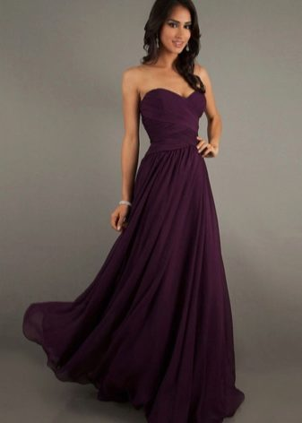 Черно-фиолетовое платье