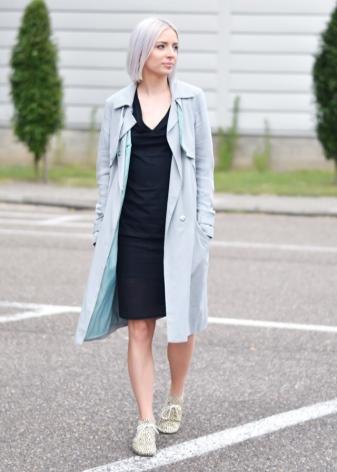 С чем лучше всего носить пальто голубого цвета — luxbrandbagsstore.ru