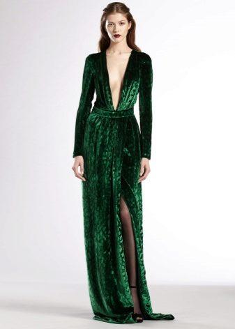 Платье изумруд цвета