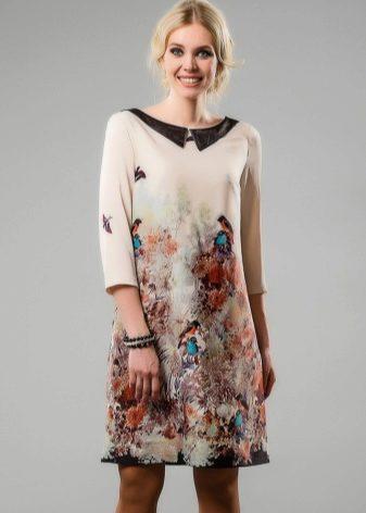 Фасон платья из одного купона
