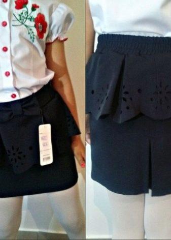 5bdadcb13ab Это торжественный вариант школьной юбки из кожи или из синтетической ткани