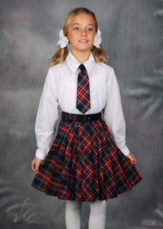 c52cdc67712 Красивые юбки в клетку – это модный вариант школьной формы для девочек.  Клетка может быть в серых тонах или синих тонах. Также огромной  популярностью ...