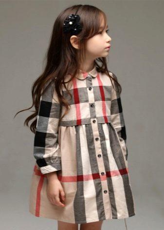 b56a31d30b8a Платье-рубашка – это удобная одежда на каждый день. Его можно надеть, как  для игр с подругами, так и для похода в школу. Для такого фасона популярен  ...