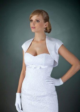 baade38a353dddd Болеро свадебное (68 фото): на платье, кружевное, с капюшоном, с ...