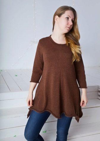 туника для беременных 82 фото осень зима вязаные платье туника