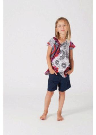 Туники для девочек (102 фото): оранжевая, школьная, лосины