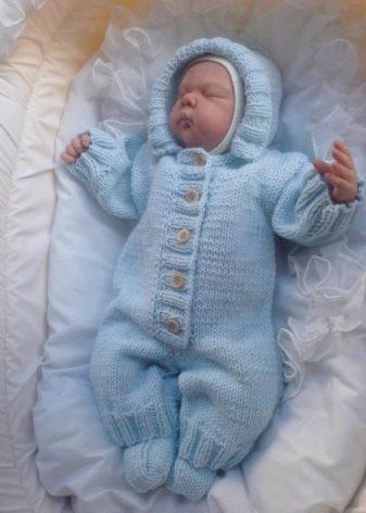 комбинезоны для новорожденных 96 фото флисовый вязаный теплый