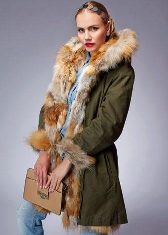 Куртка на натуральном меху женская