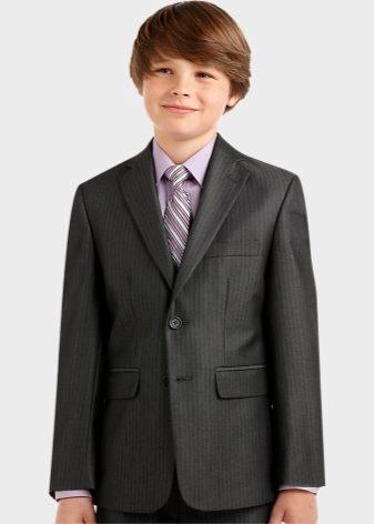 Школьный костюм для мальчика 7-14 лет: пиджак, жилет, рубашка, брюки 86