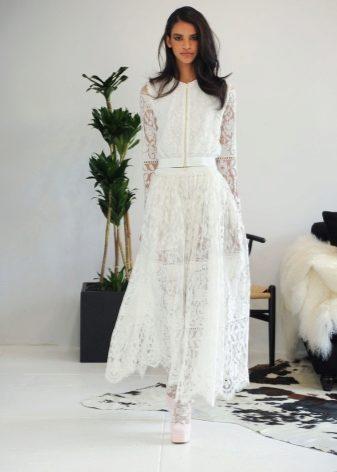 Женский брючный свадебный костюм