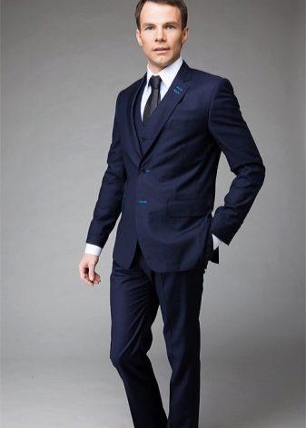 Мужские костюмы на свадьбу (150 фото): свадебные костюмы для мужчин, синий и белый, сколько стоит, молодежные