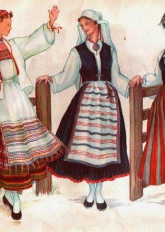 c05f70cd4334 ... украшенной передником, лифа-безрукавки, надеваемого поверх блузы,  жакета и обуви с носками. Молодые девушки могли обходиться без головных  уборов, ...
