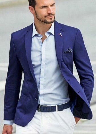 86938e7bb8a Мужской синий костюм (61 фото)  с чем носить классический костюм ...