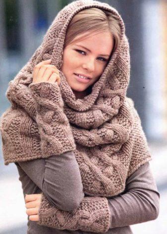Вязаный шарф на голову (47 фото): как называется, как носить (повязать) широкий шарф на голову