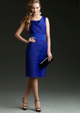 Синие платье синие туфли (64 фото): какие подойдут туфли и колготки, подходящие цвета, красные и бежевые туфли