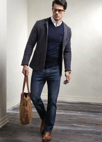 Зимние мужские броги: ботинки-броги для мужчин