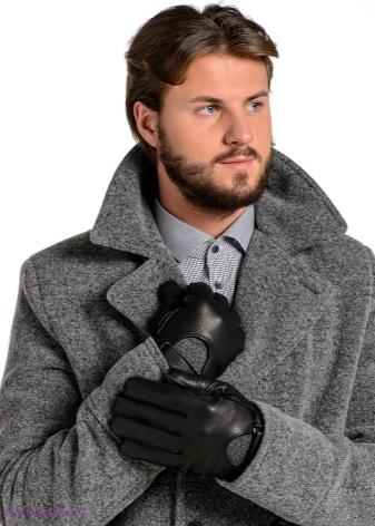 Кожаные мужские перчатки (77 фото): зимние модели из оленьей кожи на меху и тонкие коричневые демисезонные