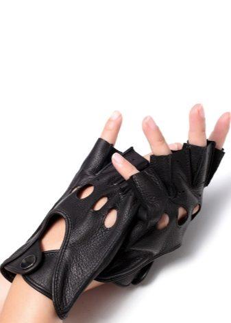 Мужские перчатки без пальцев: зимние модели - кожаные и вязаные