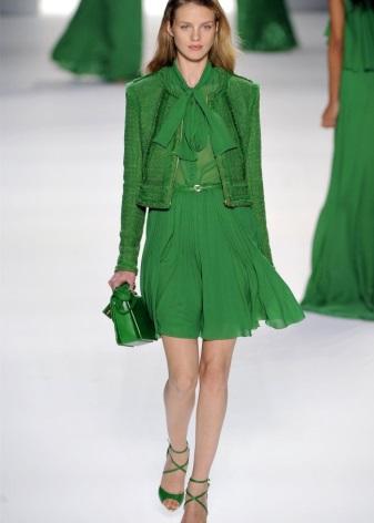 Платье цвета темно зеленого цвета