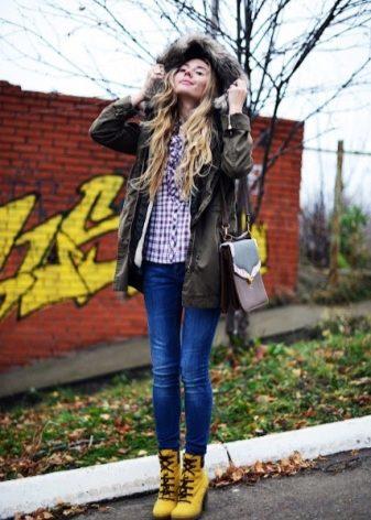 Желтые ботинки (37 фото): женские зимние и демисезонные модели