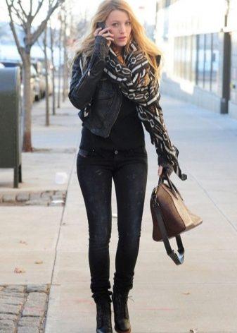 Женские черные ботинки (58 фото): зимние модели на шнуровке, на шнурках