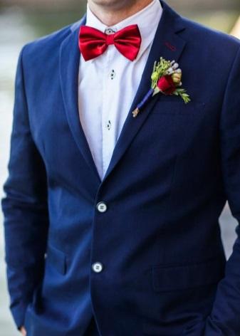 Галстук-бабочка (123 фото): мужской, размеры, желтая и синяя из атласной ленты, виды на свадьбу, необычные для мужчины