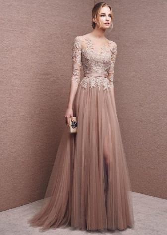 Вечерние платья а-силуэта фото