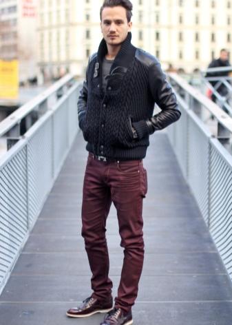 С чем носить мужские и женские ботинки (57 фото): с джинсами мужчинам, высокие и зимние, рыжие, синие и желтые