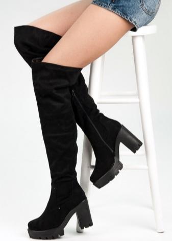 Сапоги-чулки 2018 (91 фото): высокие женские ботфорты, с чем носить длинные и колена, на шнуровке и открытые на подошве