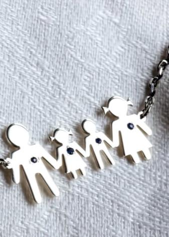 Браслеты с фигурками детей: украшения для мам с изображениями ребенка, с девочкой и мальчиком, подарок деткам на рождение